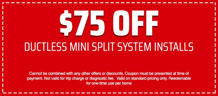 discount on Ductless Mini Split System