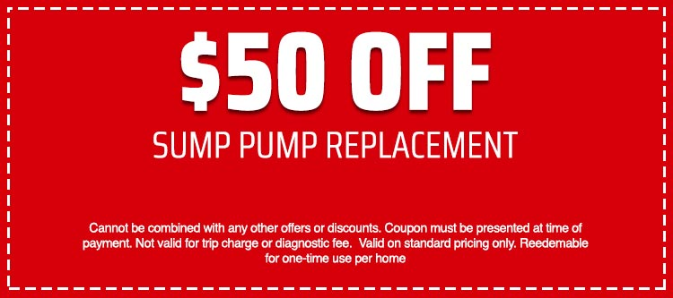 discount on Sump Pump Replacement
