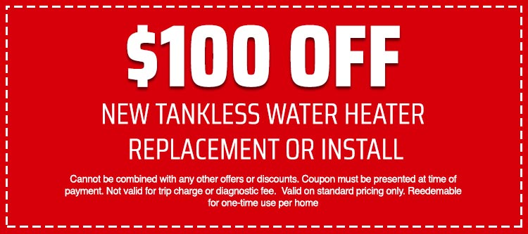 discount on Tankless Water Heater Replacement