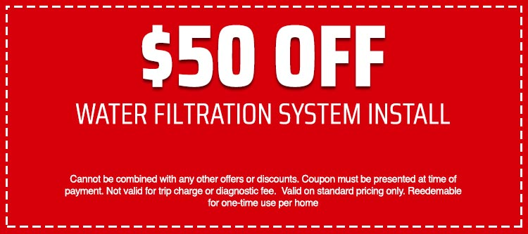 discount on Water Filtration System