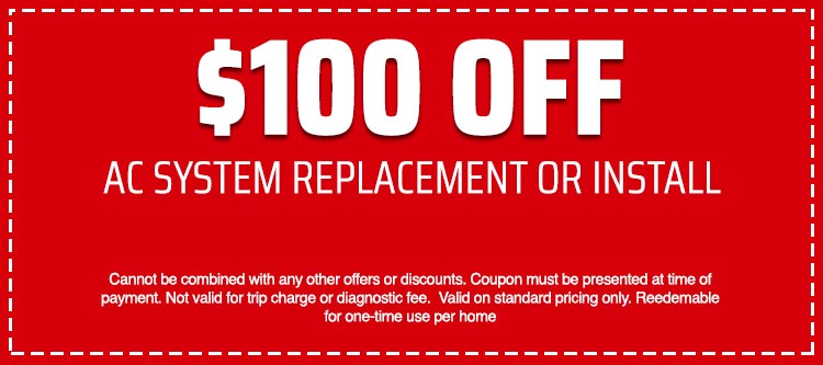 discount on AC System Replacement