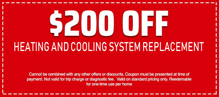 discount on Heating and Cooling System Replacement