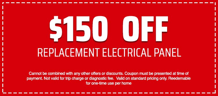 discount on Replacement Electrical Panel