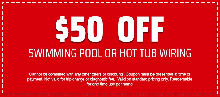 discount on Swimming Pool or Hot Tub Wiring