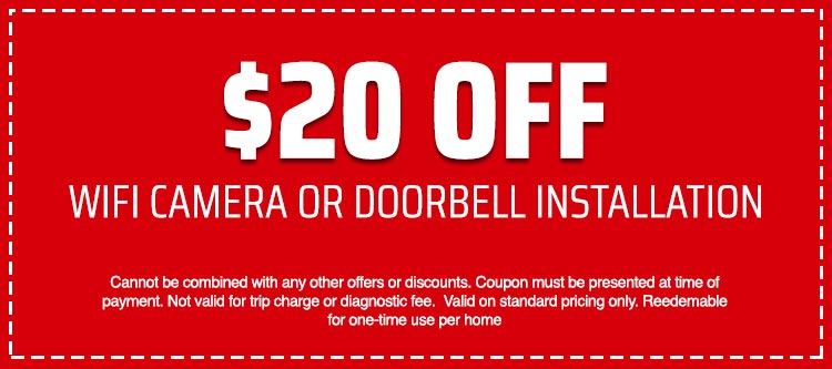 discount on WIFI camera or doorbell installation