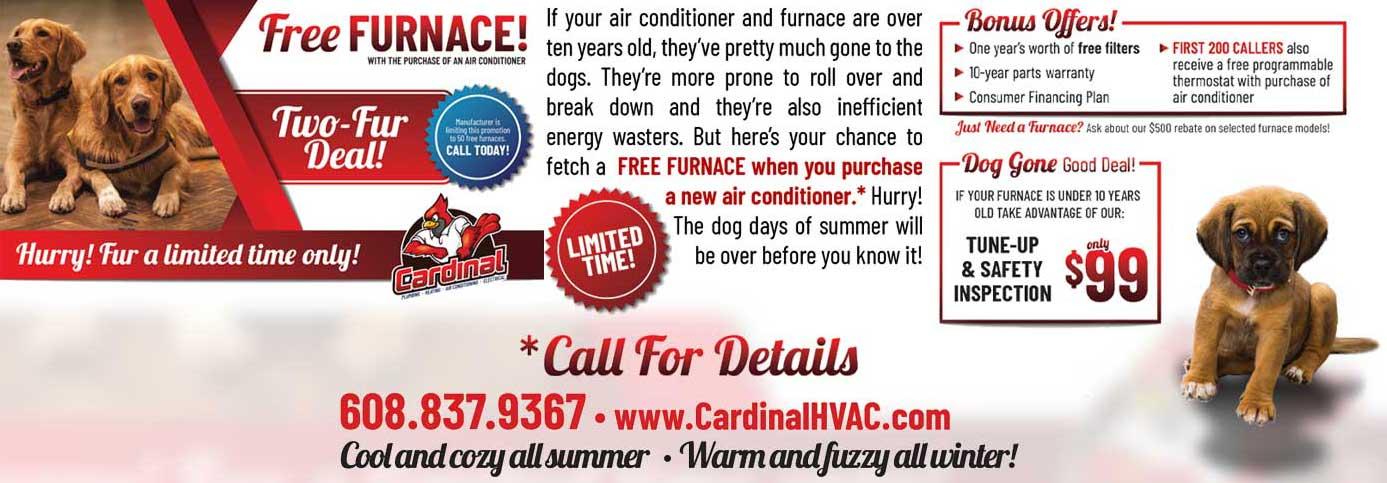 Cardinal HVAC Free Furnace Special