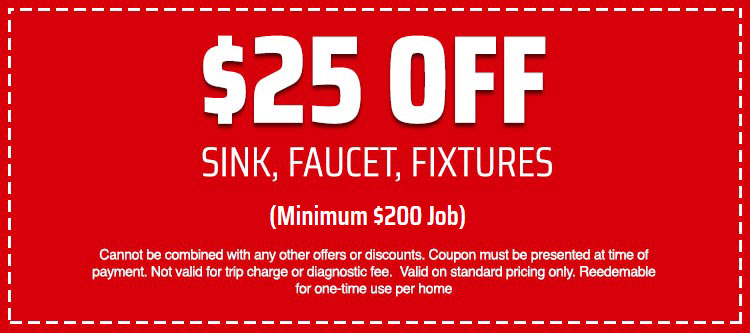 discount on Sink, Faucet, Fixtures